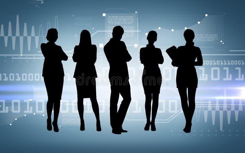 Ogólnospołeczna lub biznesowa sieć royalty ilustracja