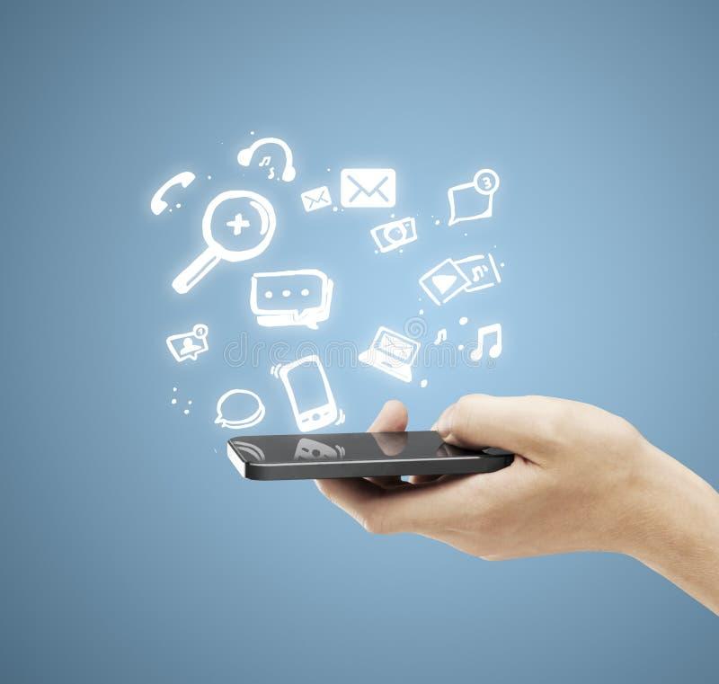 Ogólnospołeczna medialna ikona zdjęcie stock