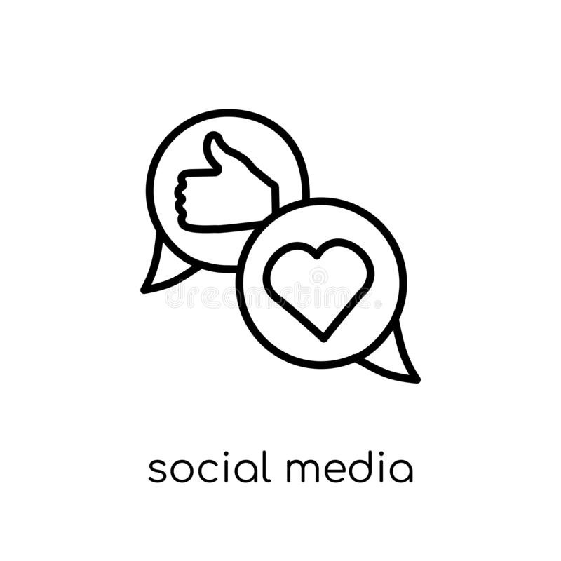 Ogólnospołeczna medialna ikona od kolekcji ilustracji