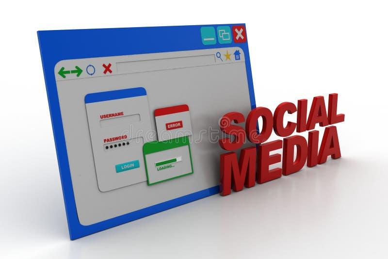 Ogólnospołeczna medialna strona domowa obrazy stock