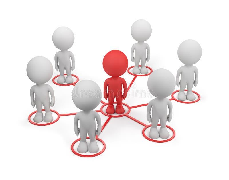 Ogólnospołeczna sieć ilustracja wektor