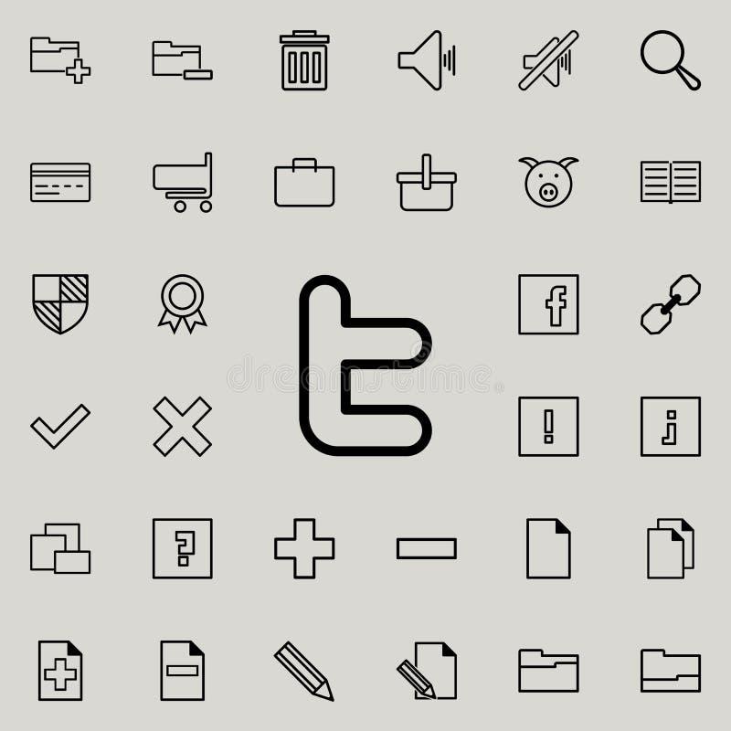 ogólnospołeczna sieć znaka ikona Szczegółowy set minimalistic ikony Premia graficzny projekt Jeden inkasowe ikony dla stron inter royalty ilustracja