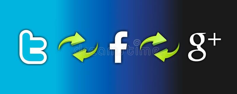 Ogólnospołeczna sieci technologia ilustracji