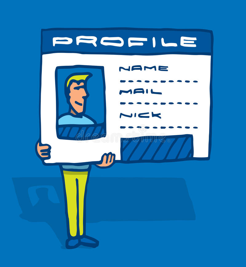 Ogólnospołeczna sieci tożsamość, profil lub royalty ilustracja