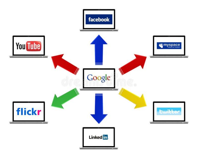 ogólnospołeczna technologia ilustracja wektor