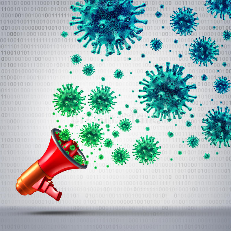 Ogólnospołeczna Wirusowa komunikacja royalty ilustracja
