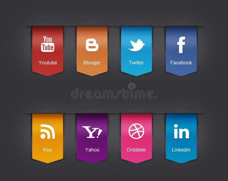 Ogólnospołeczne ikony ustawiać ilustracja wektor
