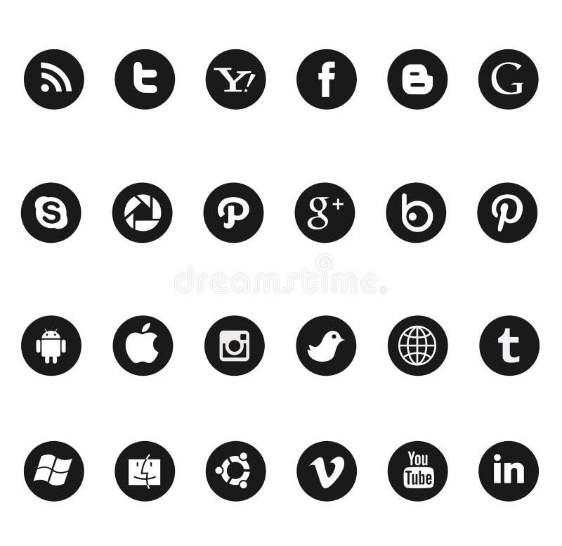 Ogólnospołeczne medialne ikony zdjęcie stock
