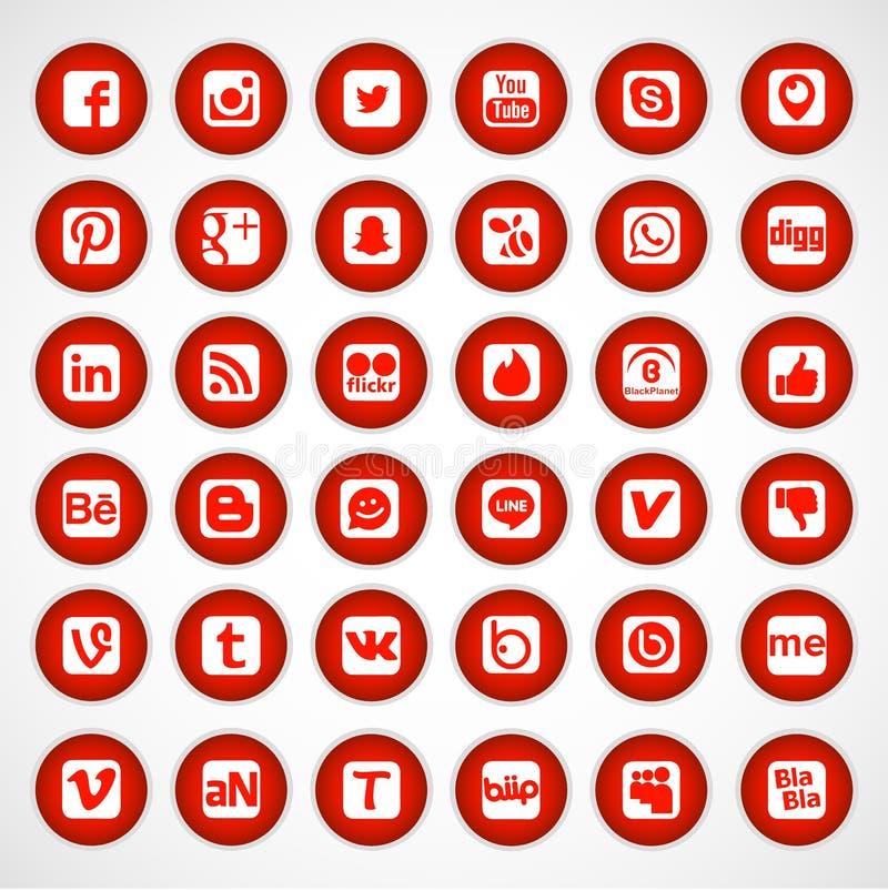 Ogólnospołeczne sieci ikony royalty ilustracja