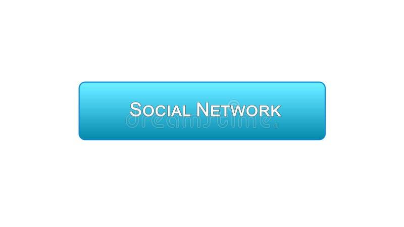 Ogólnospołecznego sieci sieci interfejsu guzika błękitny kolor, wirtualna komunikacja, gadka royalty ilustracja
