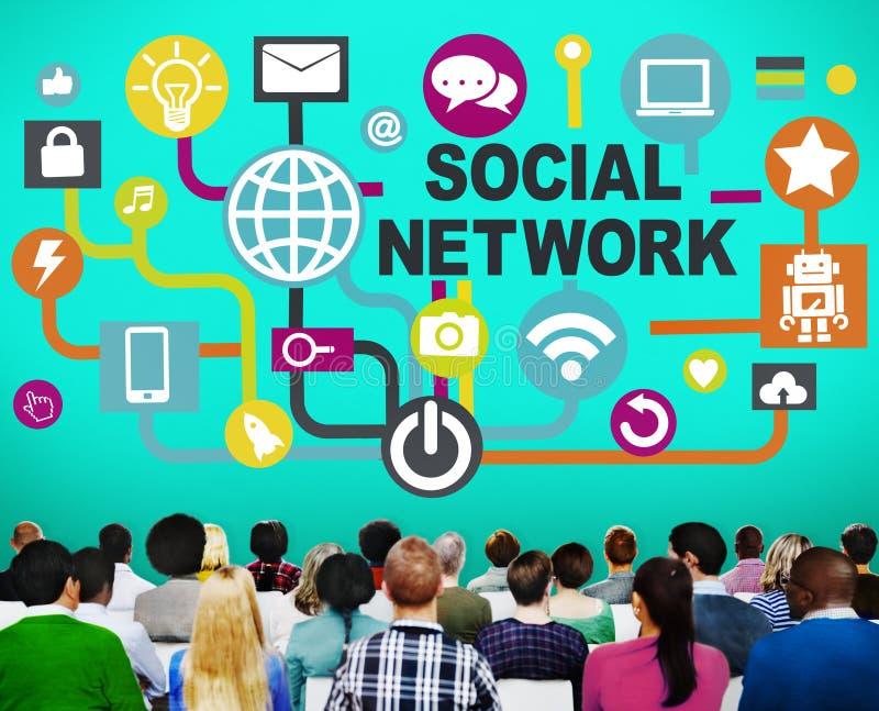 Ogólnospołecznego sieci Internetowego Onlinego społeczeństwa Złączeni Ogólnospołeczni środki C zdjęcie royalty free