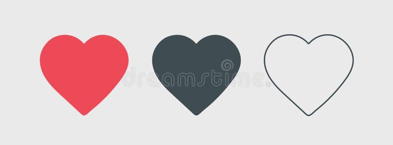 Ogólnospołecznej sieci inspirowany serce Kierowego kształta wektorowa ikona eps 10 Walentynka symbol royalty ilustracja