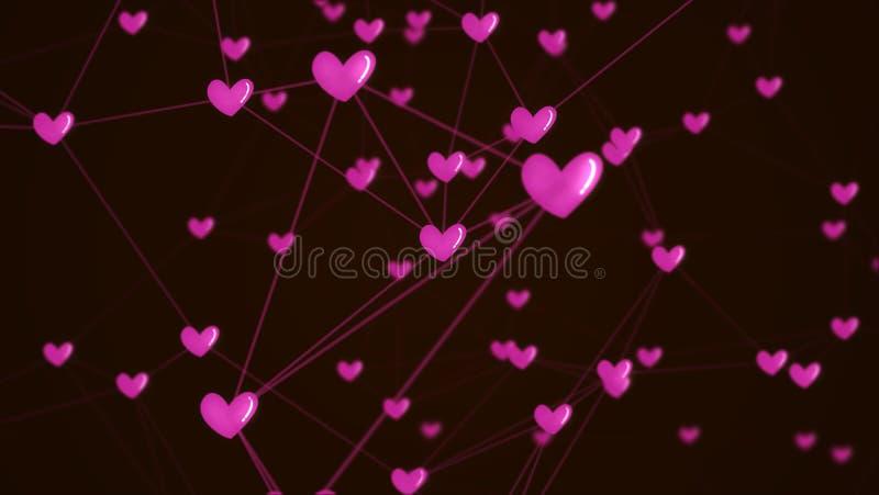 Ogólnospołecznej sieci kierowy związek z miłości ikony strukturą ilustracji