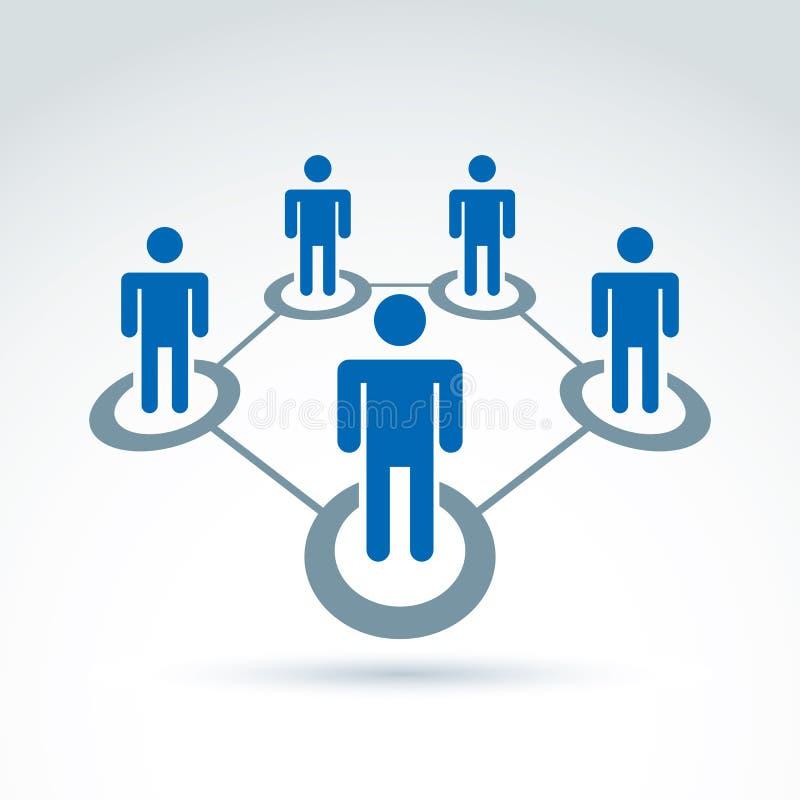 Ogólnospołecznej sieci wektorowa ilustracja, ludzie związków ilustracji