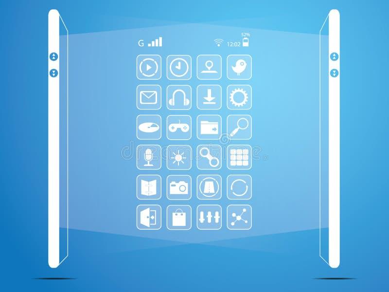Ogólnospołeczni środki, mądrze telefon royalty ilustracja