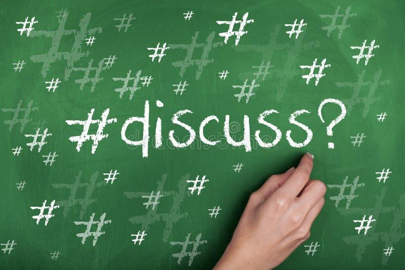 Ogólnospołeczni środki Podpisują Hashtag i Dyskutują słowo ilustracja wektor