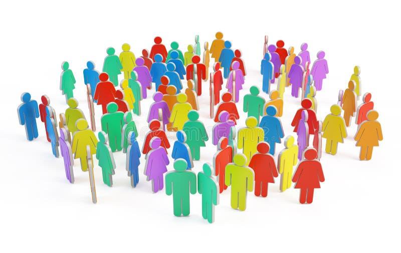Ogólnospołeczni ludzie grup royalty ilustracja