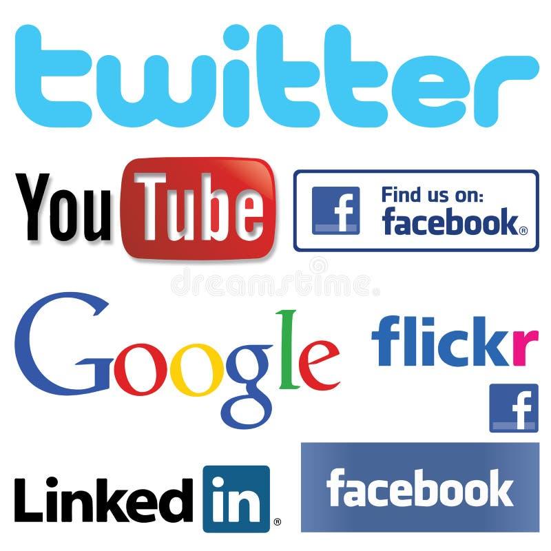 Ogólnospołeczni Medialni logowie Inkasowi zdjęcia royalty free