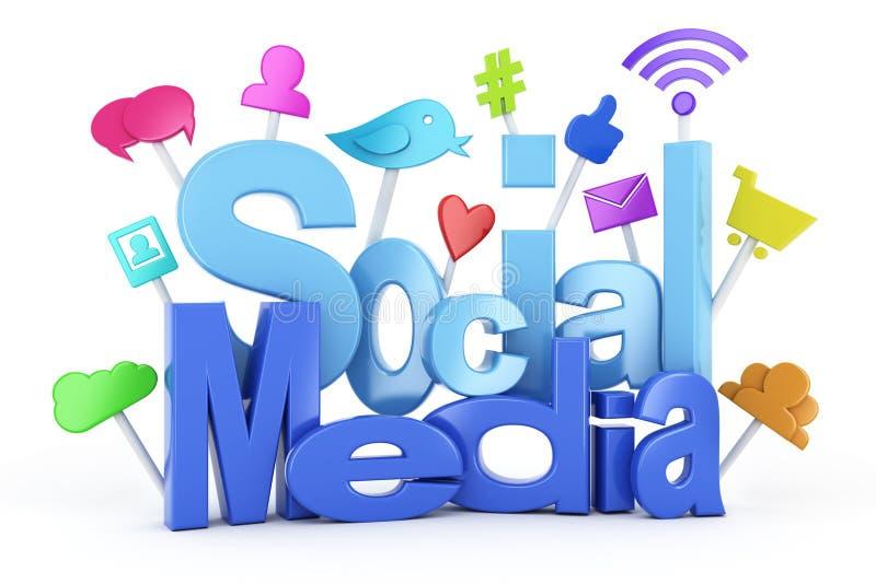 Ogólnospołeczni medialni symbole ilustracja wektor