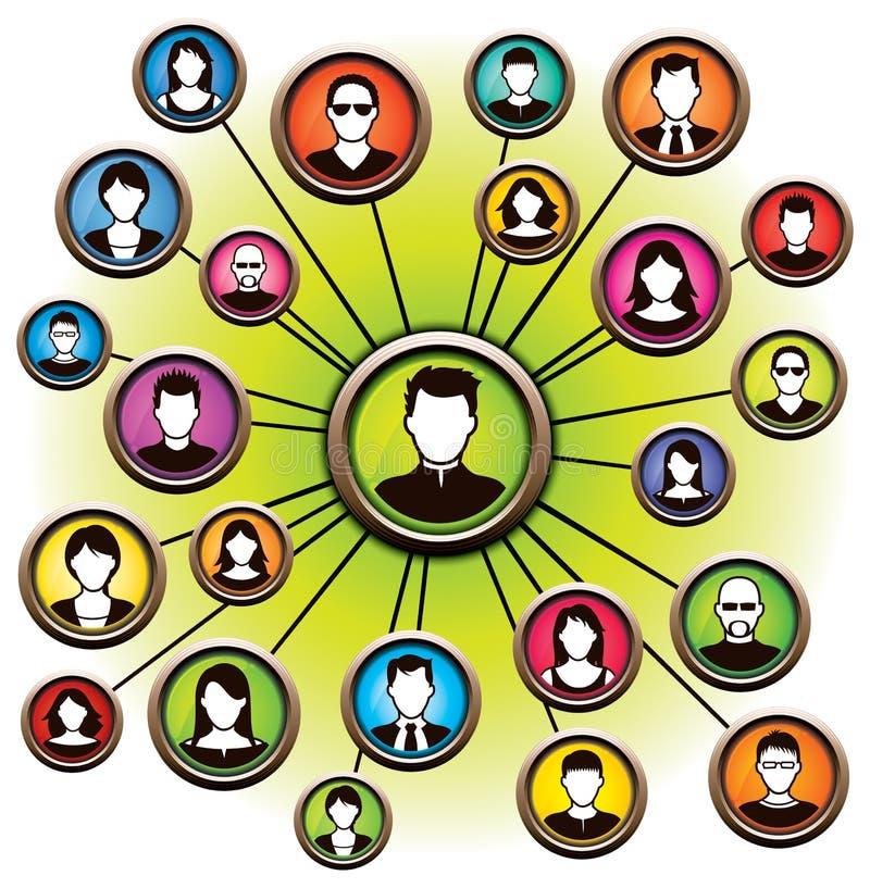Ogólnospołeczni sieci ludzie royalty ilustracja