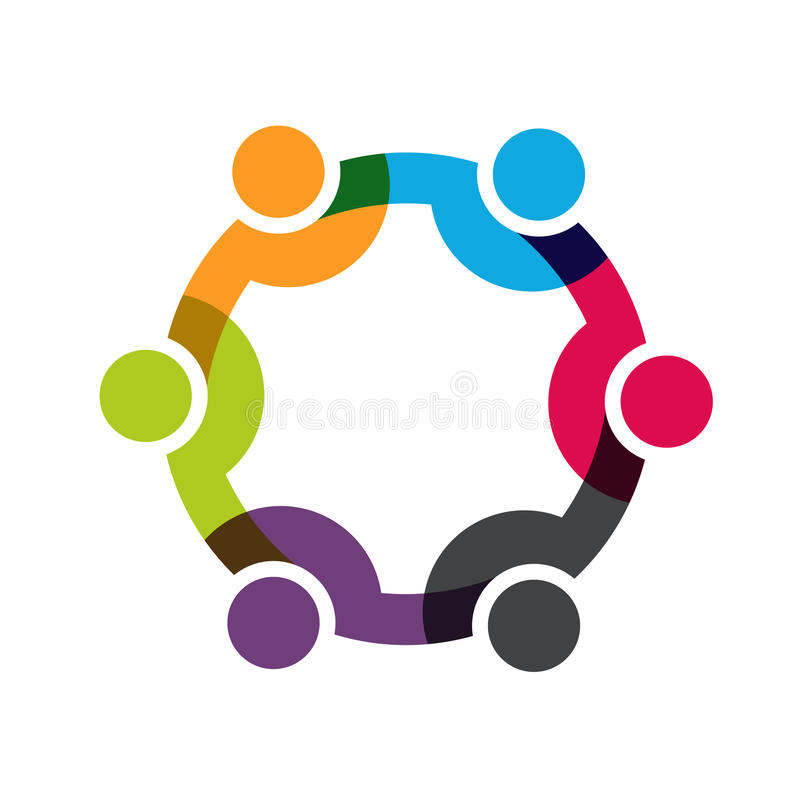 Ogólnospołeczni sieci połączenia ludzie ilustracja wektor