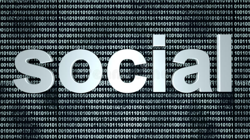 Ogólnospołeczny binarny tło zdjęcia stock