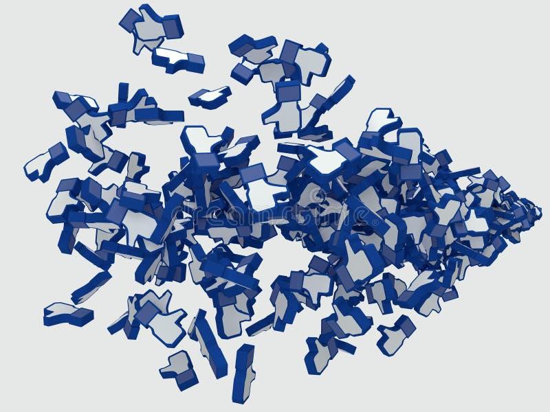 Ogólnospołeczny medialny aprobaty facebook ilustracji