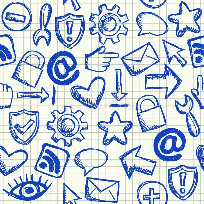 Ogólnospołeczny medialny bezszwowy wzór ilustracja wektor