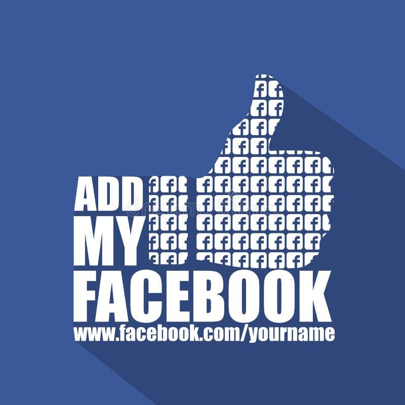 Ogólnospołeczny Medialny Facebook mieszkania tło royalty ilustracja