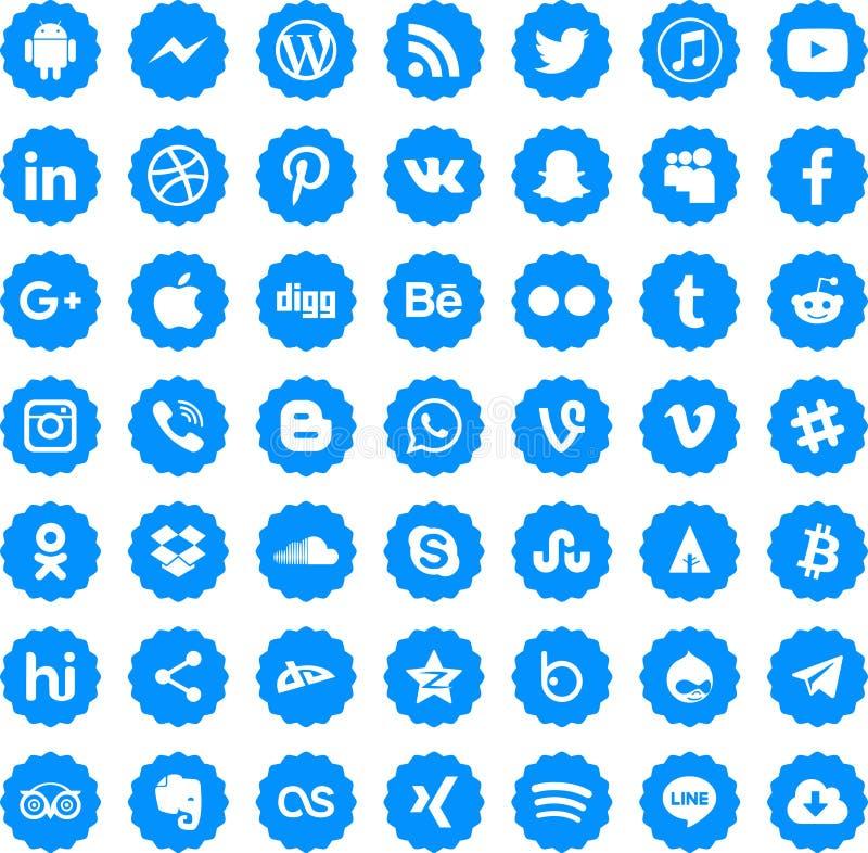 Ogólnospołeczny medialny ikona wektor eps10 royalty ilustracja