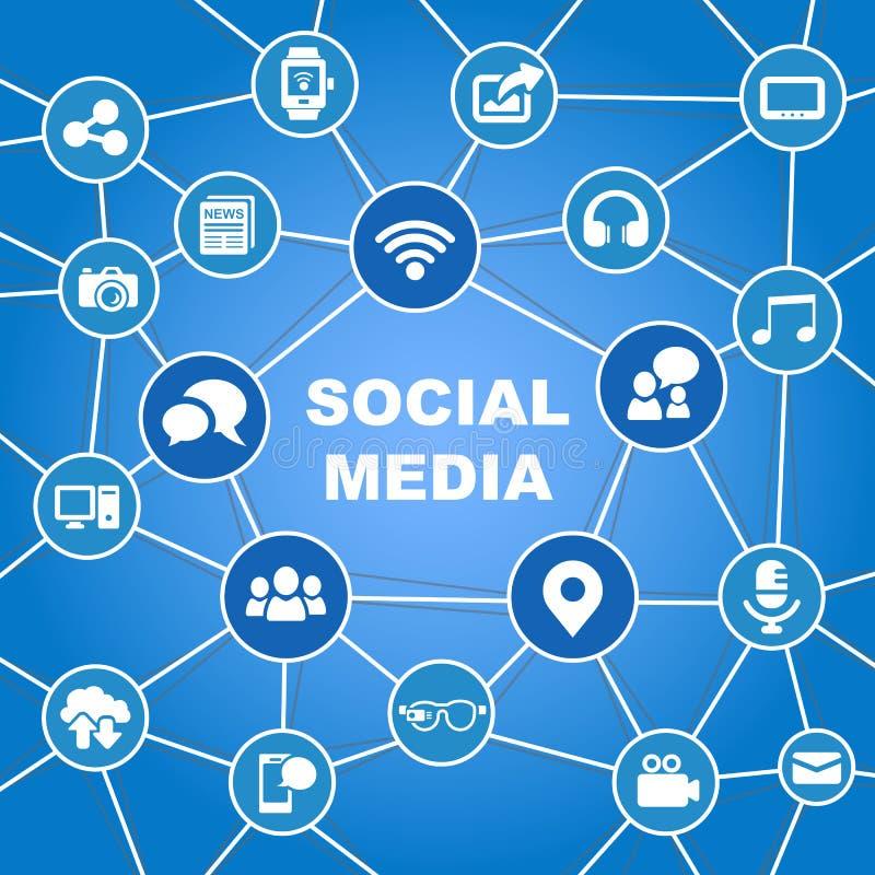 Ogólnospołeczny medialny pojęcie ilustracji