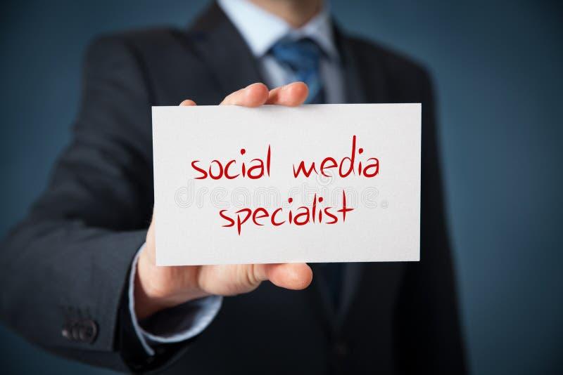 Ogólnospołeczny medialny specjalista zdjęcie royalty free