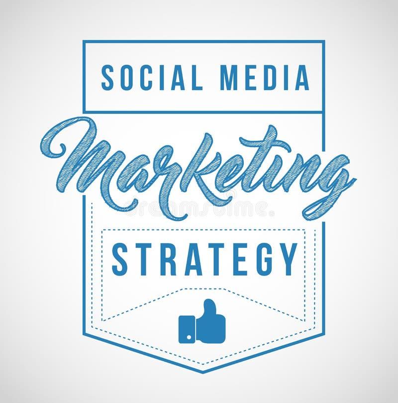 ogólnospołeczny medialny strategia marketingowa znaka znaczka foki ilustraci des ilustracji