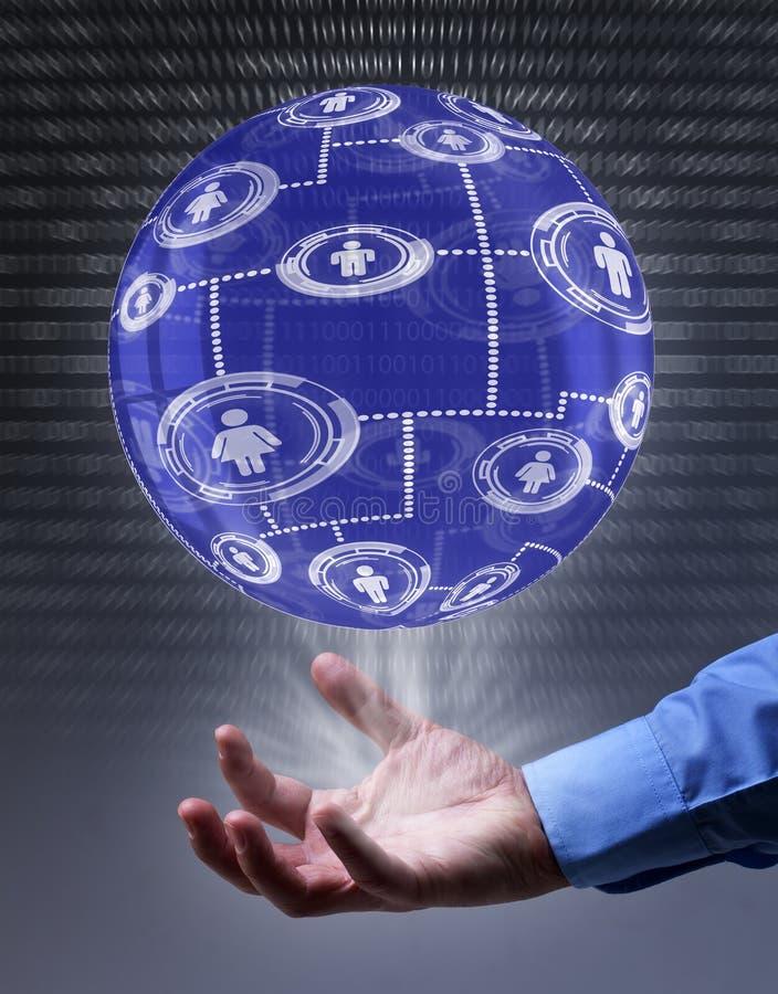 Ogólnospołeczny networking pojęcie zdjęcia stock