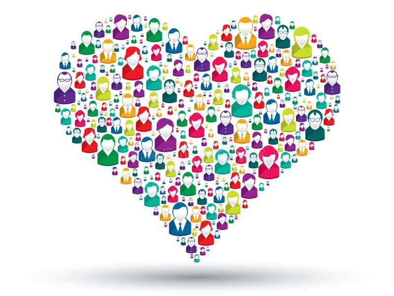 Ogólnospołeczny serce ilustracji