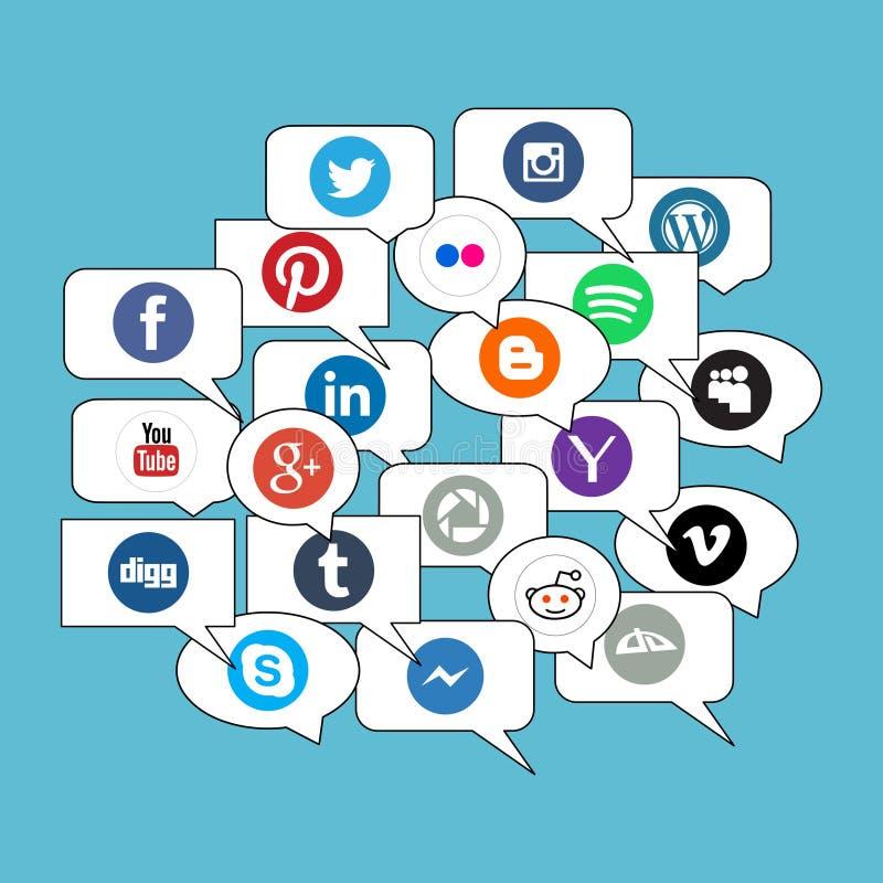 Ogólnospołeczny sieci komunikaci pojęcie ilustracja wektor
