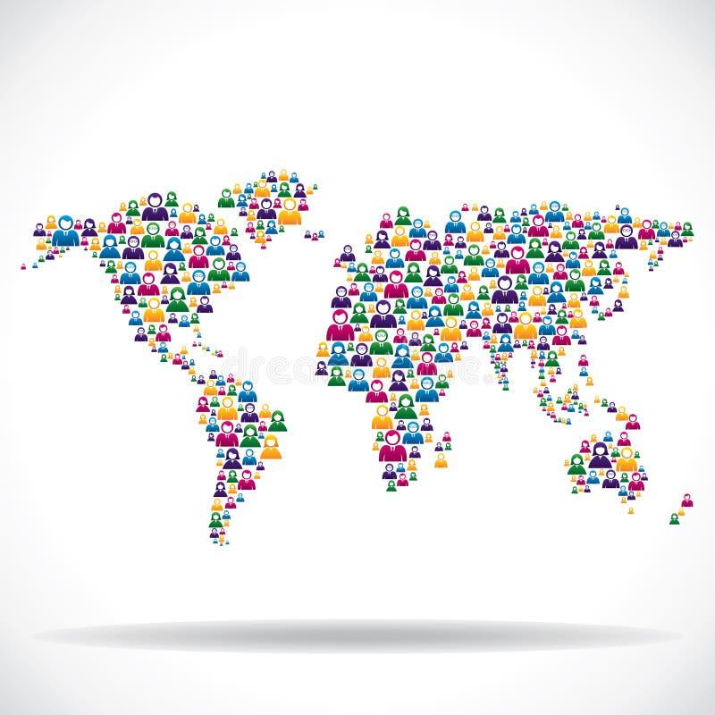 Ogólnospołeczny sieci pojęcie dookoła świata royalty ilustracja