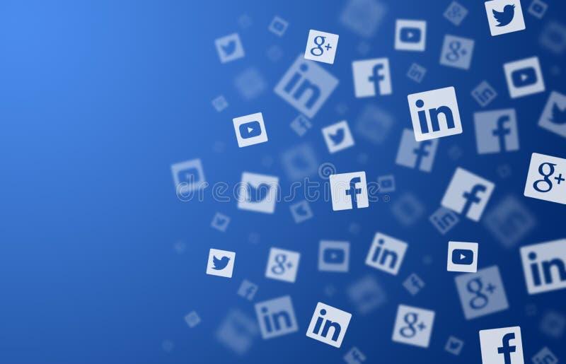Ogólnospołeczny sieci tło ilustracja wektor