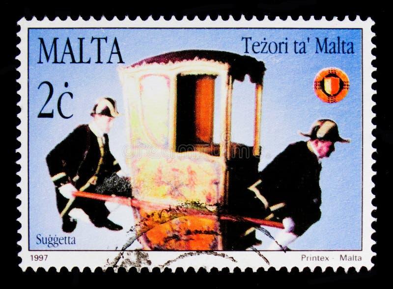 ogólny galery ` sedanu krzesło, skarby Malta Sedan krzeseł seria około 1997, obrazy stock