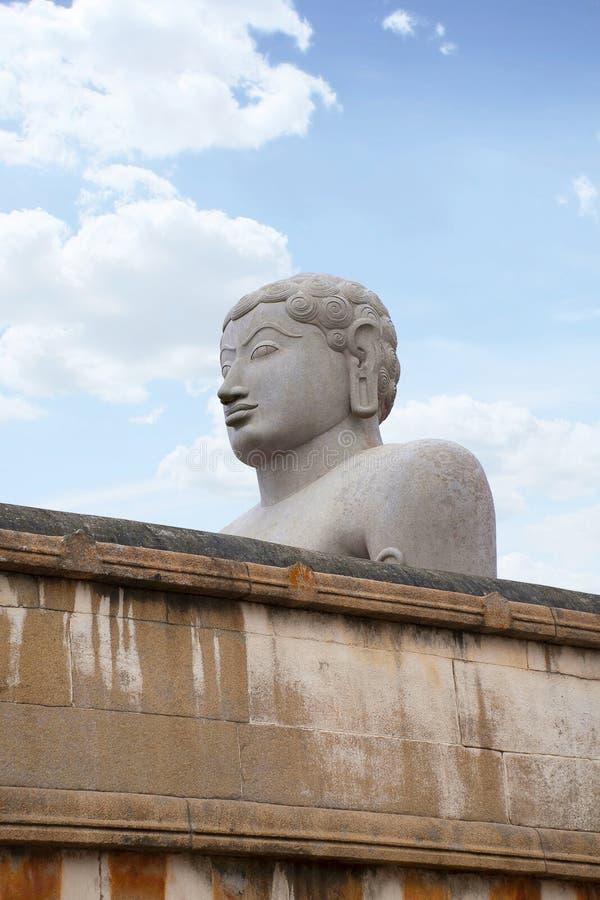 Ogólny widok Chandragiri wzgórza świątynny kompleks, Sravanabelgola, Karnataka Od lewicy Parshvanatha Basadi, Shasana Basadi i Ch zdjęcie stock