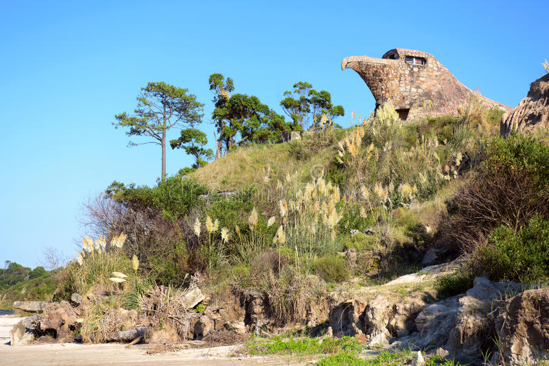 Ogólny widok El Aguila Eagle, Atlantida, Urugwaj obrazy royalty free