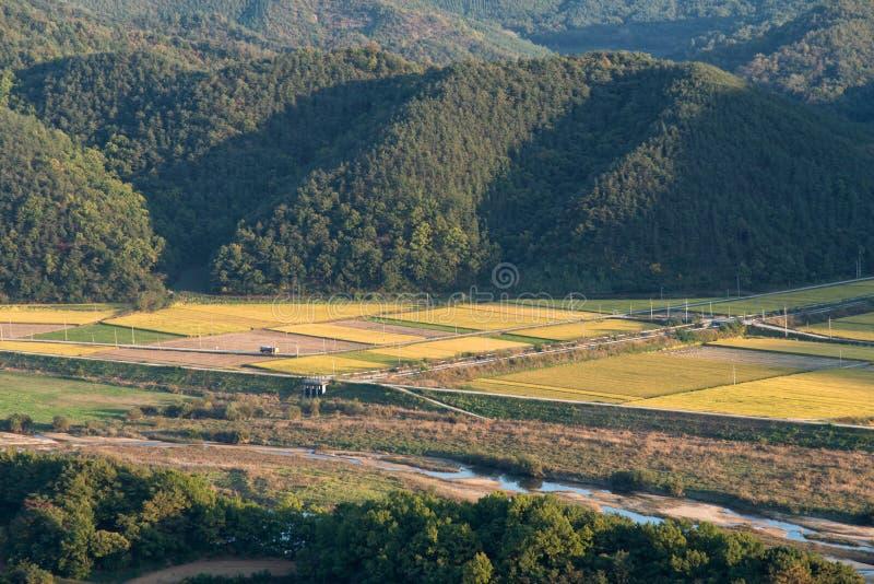 Ogólny widok koreańska wieś obraz stock