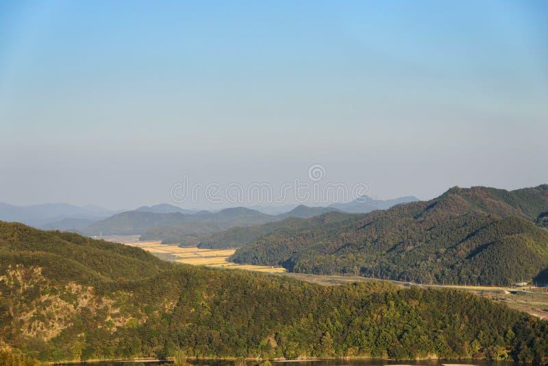 Ogólny widok koreańska wieś fotografia royalty free