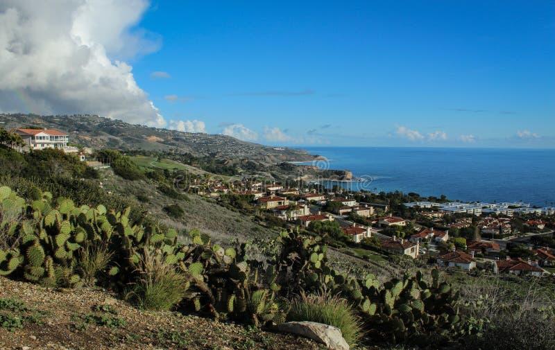 Ogólny widok Palos Verdes półwysepu linia brzegowa, Los Angeles okręg administracyjny, Kalifornia fotografia royalty free