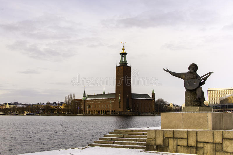 Ogólny widok urząd miasta, Sztokholm zdjęcie royalty free