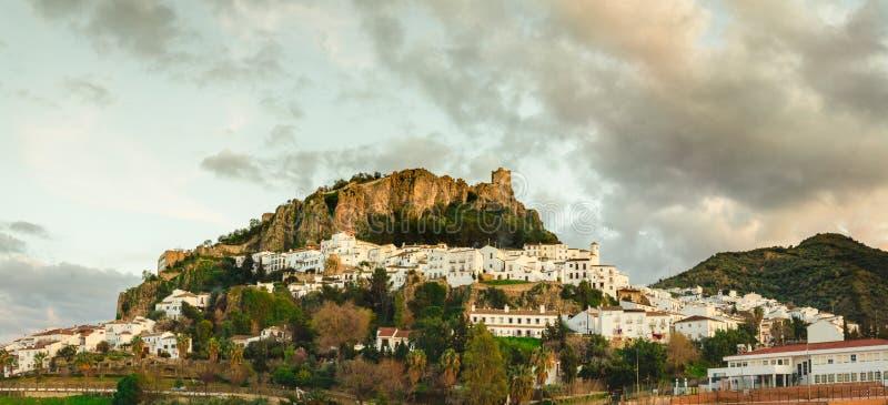 Ogólny widok Zahara De Los angeles Sierra, CÃ ¡ diz zdjęcia royalty free