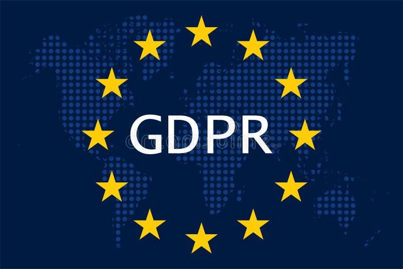 Ogólnych dane ochrony przepis GDPR ilustracja wektor