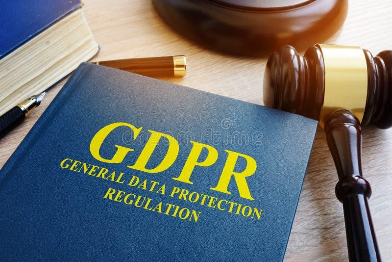 Ogólnych dane ochrony przepis GDPR zdjęcie stock