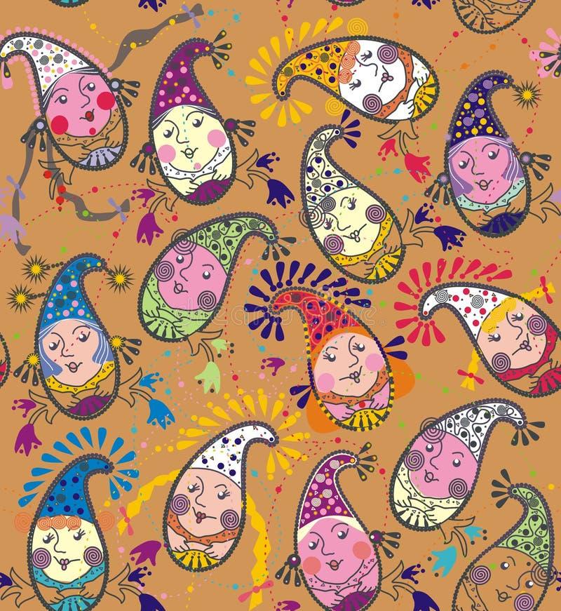 Ogórków śmieszni gnomy ilustracji
