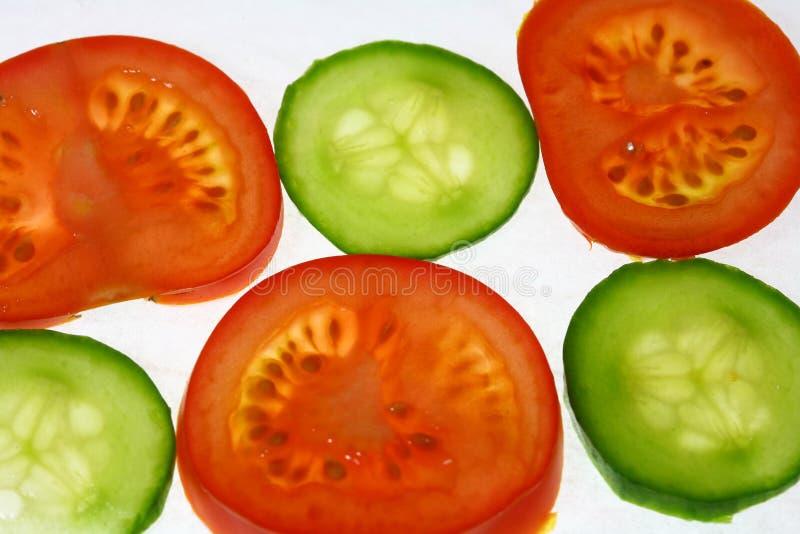 ogórkowi pomidory zdjęcie stock